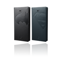 GRAMAS Full Leather Case BATMAN / SUPERMAN GLC606 for iPhone SE