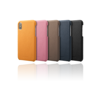 GRAMAS Shrunken-calf Shell Leather Case GSC-70358 for iPhone X